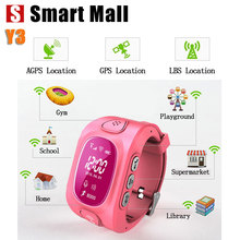 Y3 2016 New Arrial GPS/GSM/Wifi Tracker Watch for Kids Children Smart Watch with SOS Support GSM phone Android&IOS Anti Lost