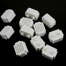 цена на 10pcs Mini 25 Points Breadboard Solderless Prototype Tie-point white