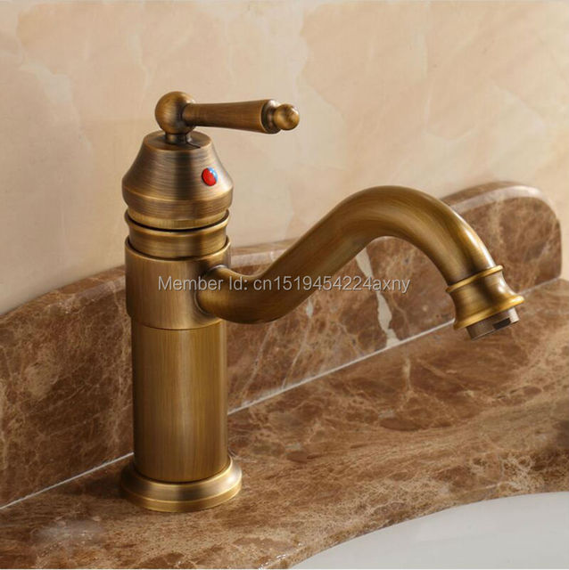 Free Shipping 9 Height Contemporary Bathroom Faucet Antique Bronze Finish Br Basin Sink Single