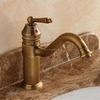 Free shipping 9 Height Contemporary Bathroom Faucet Antique bronze finish Brass Basin Sink Faucet Single Handle water tap GI13
