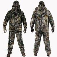 Мужская верхняя одежда Bionic зимняя камуфляжная одежда охотничья одежда зимние охотничьи костюмы с флисовой Ghillie костюм