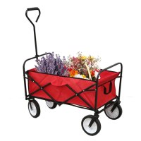 Heavy Duty Folding Hand Truck Sturdy Trolley Barrow Cart Garden Platform Trolley Home Garden Tool Foldable Trolleys