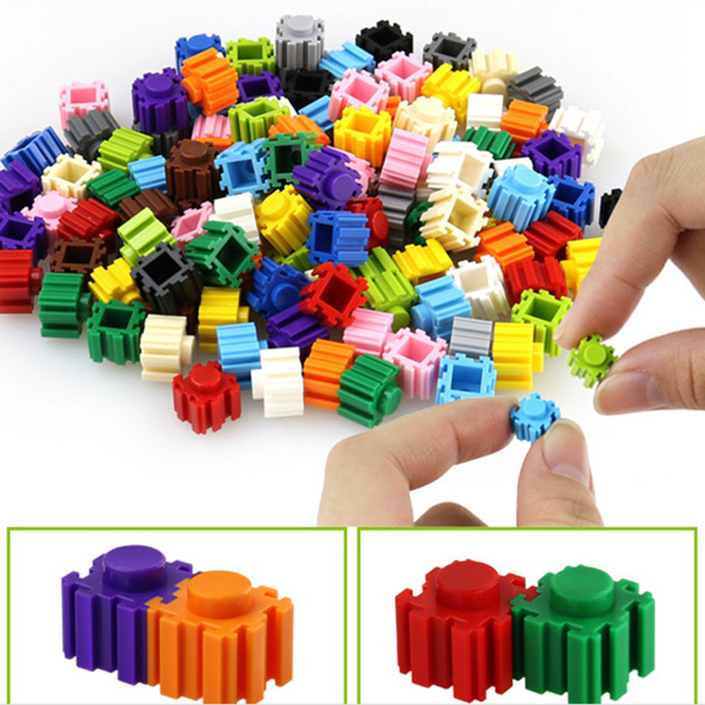 YARD 500 pcs 15 Colors DIY Mini Block Block Plastic Cube Blocks Building Bricks Educational Toy Block Building Game for Kids