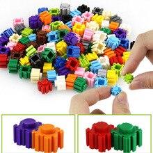 YARD 500 pcs 15 Colors DIY Mini Diamond Block Plastic Cube Building Blocks Bricks Educational Toy Game Building Blocks for Kids