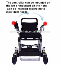 Aluminum alloy Lightweight 1 second quickly folding lithium battery with brushless motor power electric wheelchair