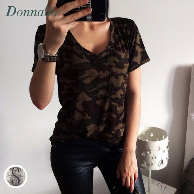 77813e7b2d282 Militaire t-shirt Femmes Top T Chemises D'été Top À Manches Courtes  Occasionnel
