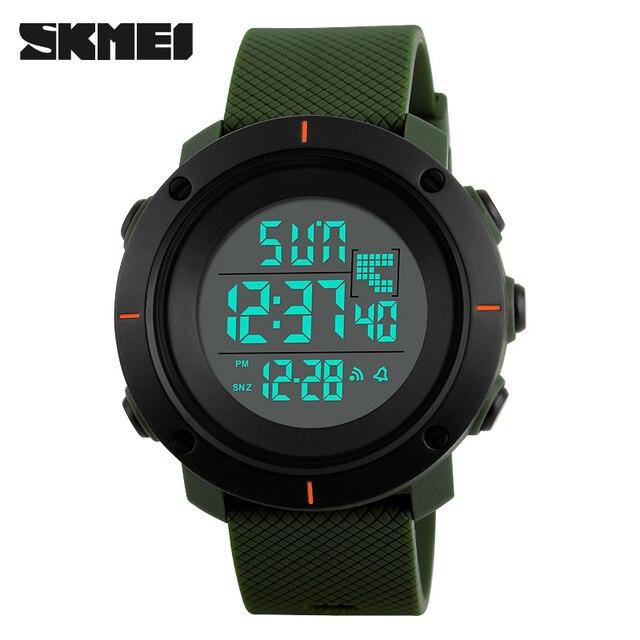 Новый SKMEI Марка Спорт Цифровые Часы Моды для Мужчин Водонепроницаемый Многофункциональный Военная LED Цифровые Часы Открытый Наручные Часы