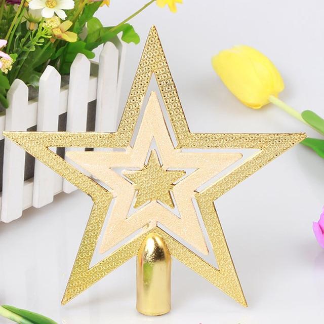 Puntale A Stella Per Albero Di Natale.New Shiny Oro Decorativo Di Natale Puntale Dell Albero Di Natale