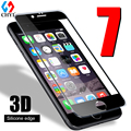 3d tpu borda de vidro temperado para iphone 7 7 plus completo Protetor de tela de Vidro borda de Silicone Protetora Para iphone7 Clara Livre caso