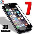 3d tpu edge vidrio templado para iphone 7 7 plus completo borde De Silicona Protectora De Cristal Protector de pantalla Para iphone7 Transparente Libre caso