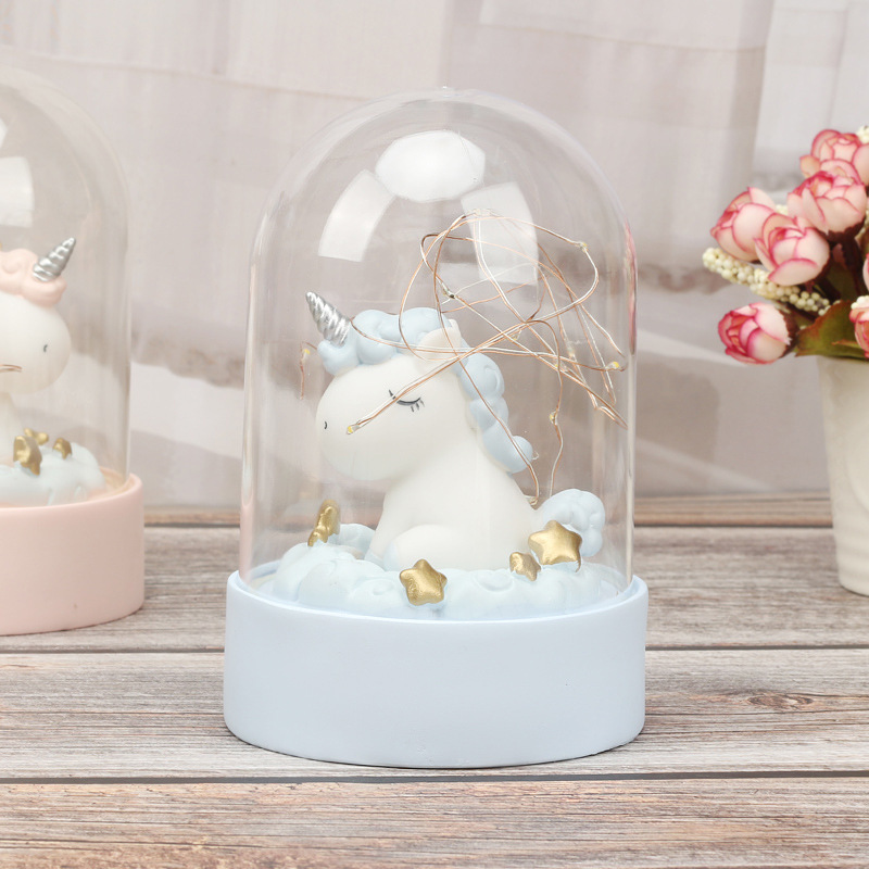 Cartoon LED Night Light Luminaria Garland Fairy String Lights Novelty Unicorn Night Lamp Bedside Lamp For Kids Christmas New Year Gift (6)