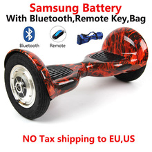 No tax 10inch hoverboard Skateboard 2 Wheel self Balance scooter samsung battery Smart self Balance scooter UL2272 for adult