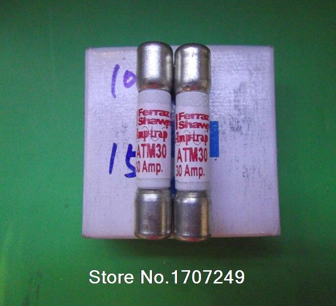 Free Shipping MERSEN fuse FERRAZ Shawmut AMP-TRAP fuses ATM30 10*38MM 30A 600V [sa]roland ferraz mersen fuses amp trap fuse atqr10 10a 600v 5pcs lot