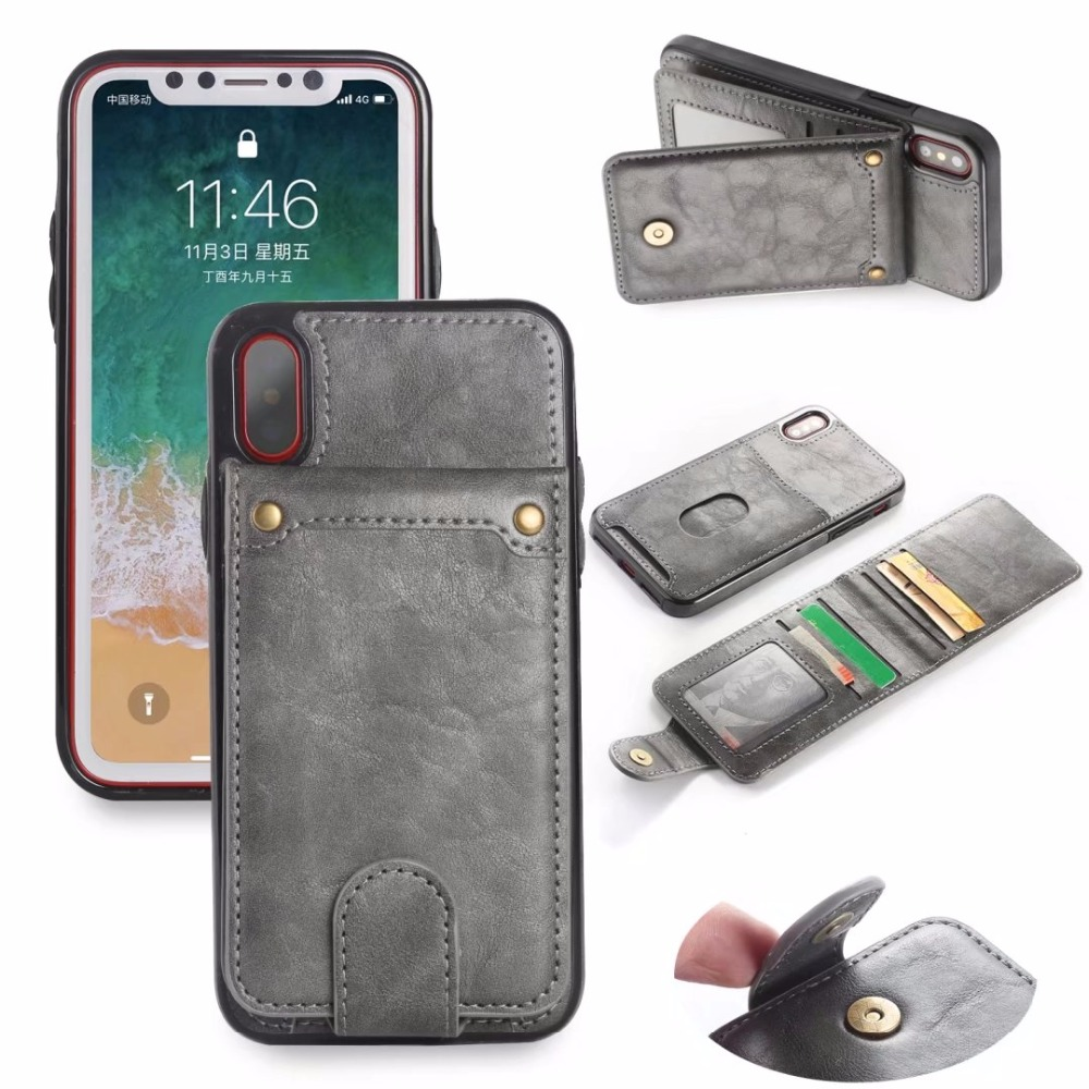 For iphone X case Luxury Wallet Flip PU Leather Back Cover for iphone 6 6s Plus Apple 7 8 Plus 10 Phone Bag Coque With Stand