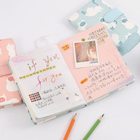 1 Pc Cute Cats Hardcover Notebook 64k 32k Diary Planner NoteBook Pocket Notepad Birthday Gift School
