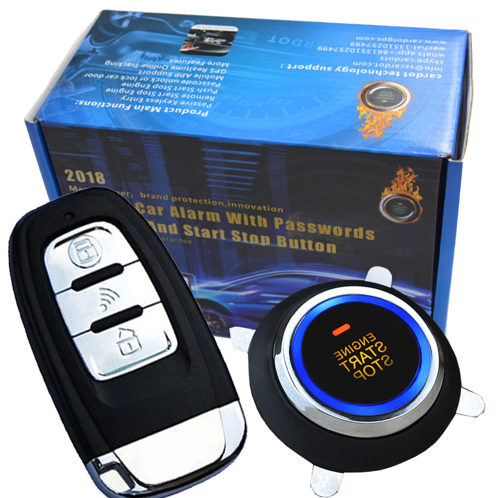smart car security system passive keyless entry auto lock or unlock car door push button start stop smart ani hijacking alarm car auto engine start stop button smart key alarm security keyless entry lock or unlock by passwords pke auto central lock car