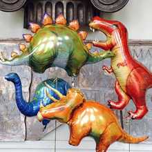 1pc Giant Dinosaur foil balloon boys animal balloons childrens dinosaur birthday party jurassic world decorations air balls(China)
