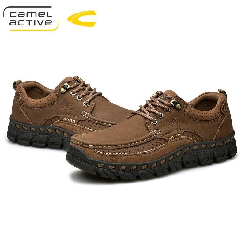E cáqui De Mocassins Oxfords Dos Active Casuais Homens Qualidade Flats Confortável Sapatos Marrom Couro Camel Genuíno Novo Vaca ETCwHC1q