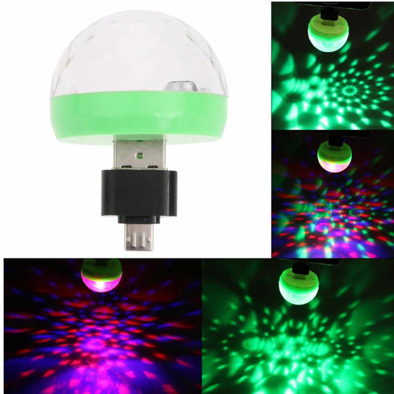 Mini USB led Party Lichter Tragbare Kristall Magic Ball Home Party Karaoke Dekorationen Bunte Bühne LED Disco Licht Für Home