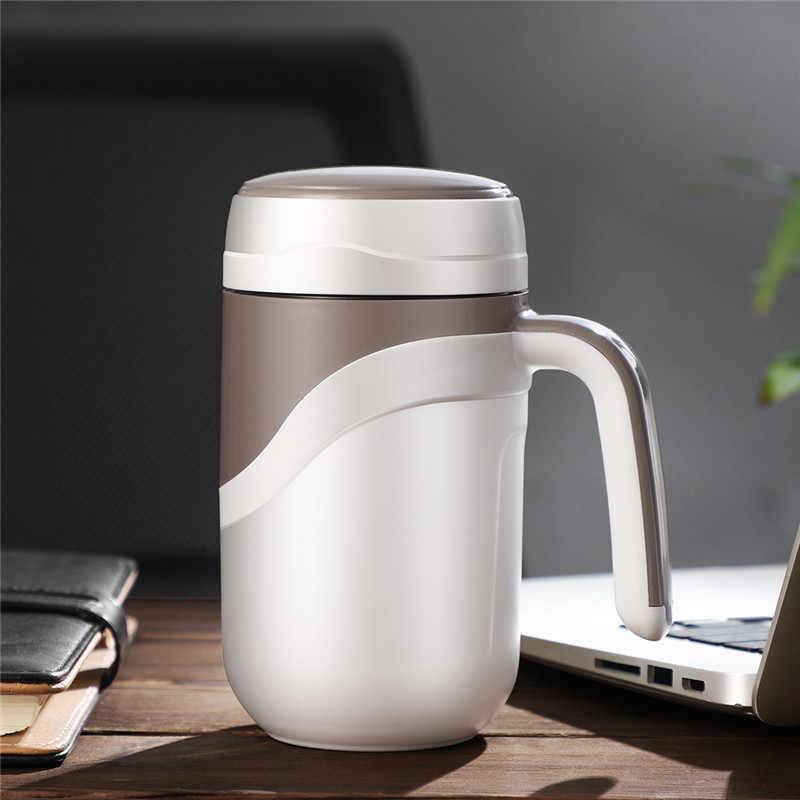 0d4ffe6b43b ... 380ml Thermal Coffee Mug Ceramic Inner Vacuum Flasks Portable Thermos  Bottle for Water Insulated Tumbler for