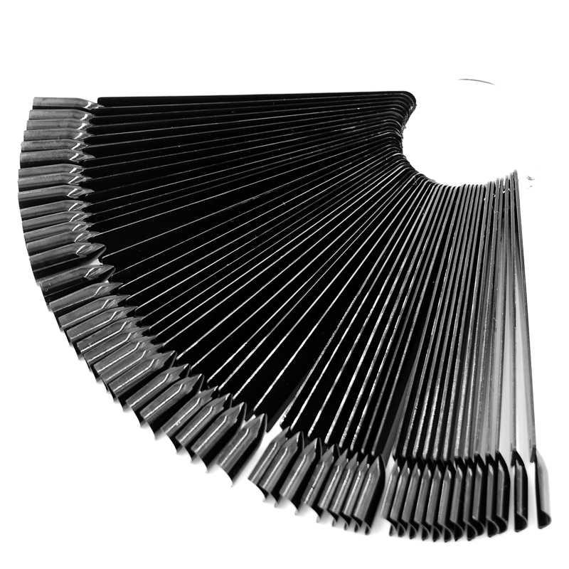 Новые 50 наконечников/набор натуральные/прозрачные/черные Типсы для дизайна ногтей дисплей лак для ногтей цветной дисплей вентилятор практический Совет инструменты для ногтей