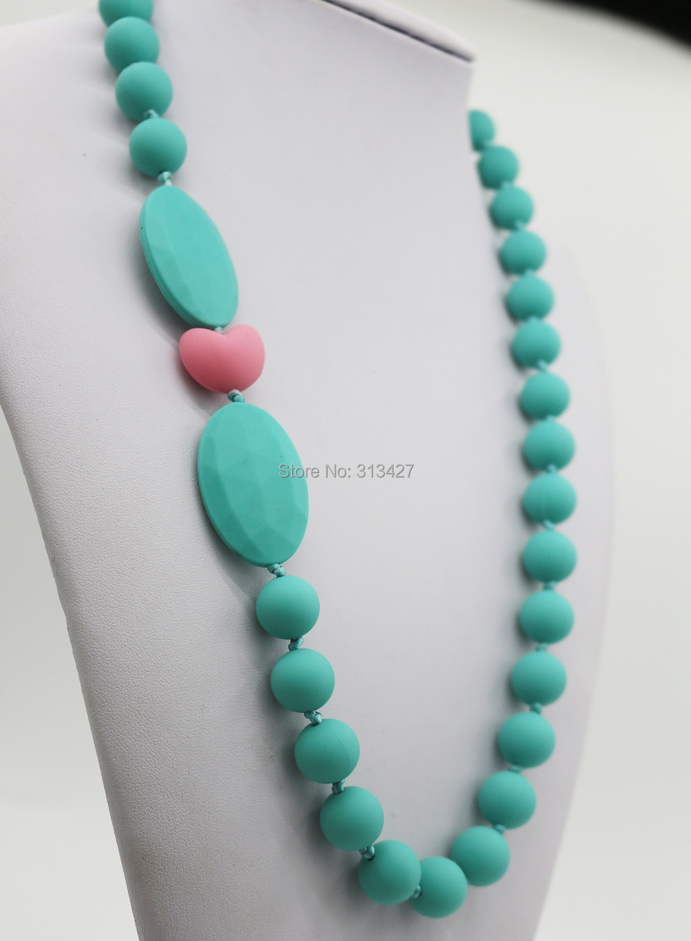 product 2015 best baby NEW STYLE Chewable Teething Necklace - Silicone safe for baby Beads - Breakaway Clasp - Nursing Necklace