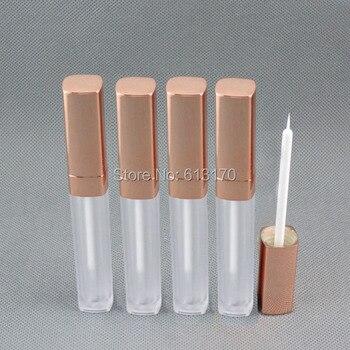 Nuevos tubos vacíos del delineador de ojos de 6ml, Forma cuadrada, Pestaña revitalash transparente, botellas, tapa dorada para mujeres, maquillaje DIY