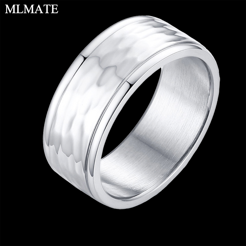 Mens Unique Wedding Bands.Us 3 76 42 Off 8mm Men Unique Hammered Multi Faceted Stainless Steel Wedding Band Ring In Wedding Bands From Jewelry Accessories On Aliexpress Com