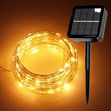 Светодиодный светильник на солнечных батареях/USB 10 м/20 м/30 м светодиодный гирлянды сказочные Праздничные рождественские гирлянды солнечные садовые Водонепроницаемые огни