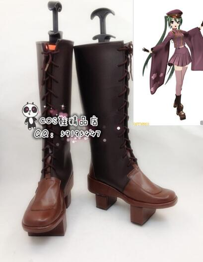 Anime Vocaloid Hatsune Miku Senbonzakura Halloween filles Cosplay bottes longues chaussures