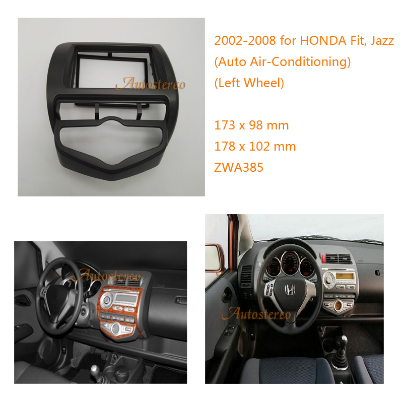 цена на Car Radio fascia for HONDA Fit, Jazz 2002-2008 (Auto Air-Conditioning Left Wheel