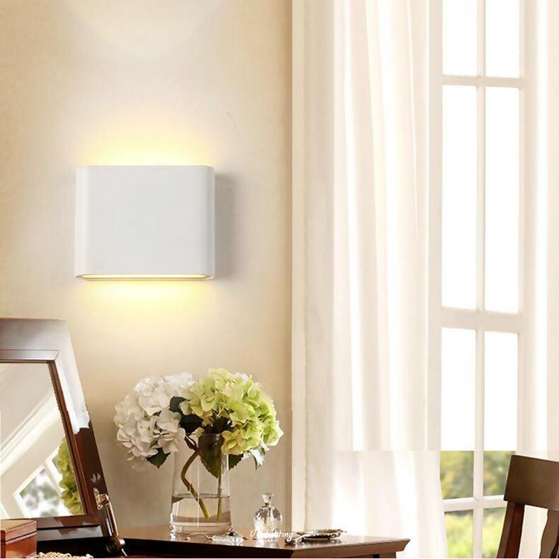 Doprava zdarma 6W 12W COB LED nástěnné svítilny oboustranně nahoru a dolů nástěnné světlo venkovní vodotěsná veranda světla 8PCS