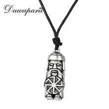 Dawapara Slavic Soldier Kolovrat Amulet and Talisman Pendant Necklaces Slavonic Greybeard Charms Jewelry for Men Christmas Gift