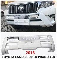 Для TOYOTA LAND CRUISER PRADO 150 2018 спереди бампера бампер плиты высокое качество авто аксессуары