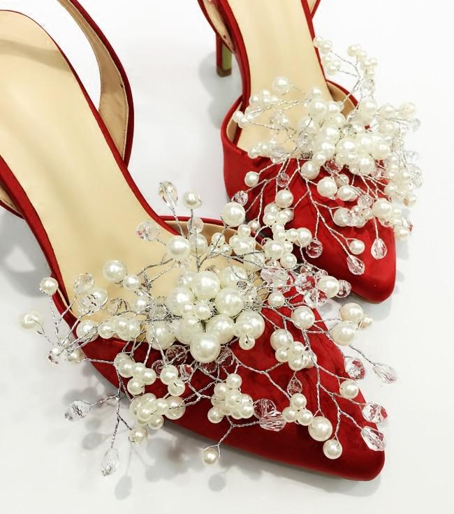 Soltera Fiesta Sandalias Perla Alto Ol rojo Punta lavanda Señora Mujeres Bomba Mujer Delgada Boda Tacón Nuevo Zapatos De Diamante 2019 blanco Dulce Marfil U7Eaq