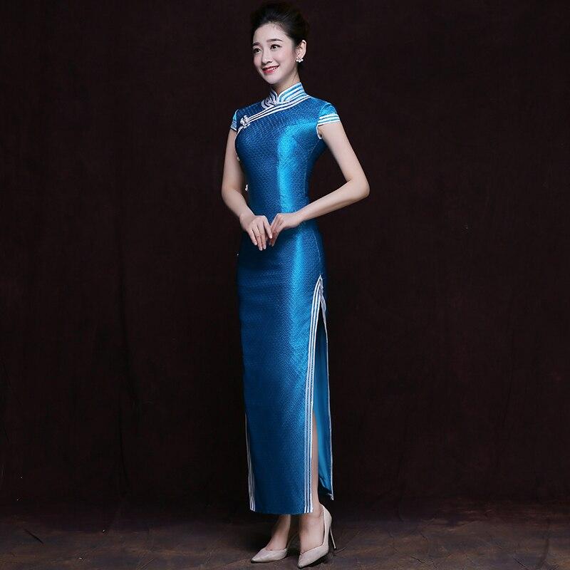Élégant filles Qipao classique chinois moderne Cheongsam printemps été automne élégant robe Banquet rituel femmes décontracté Vestidos