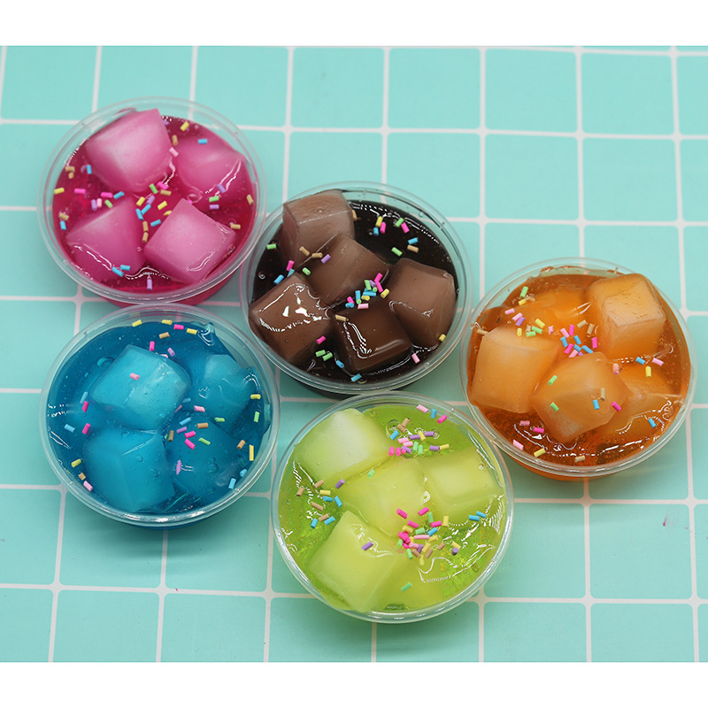 Sludge Crystal Slime Transparent Clay Ice Cream Candy Coconut Putty Plasticine
