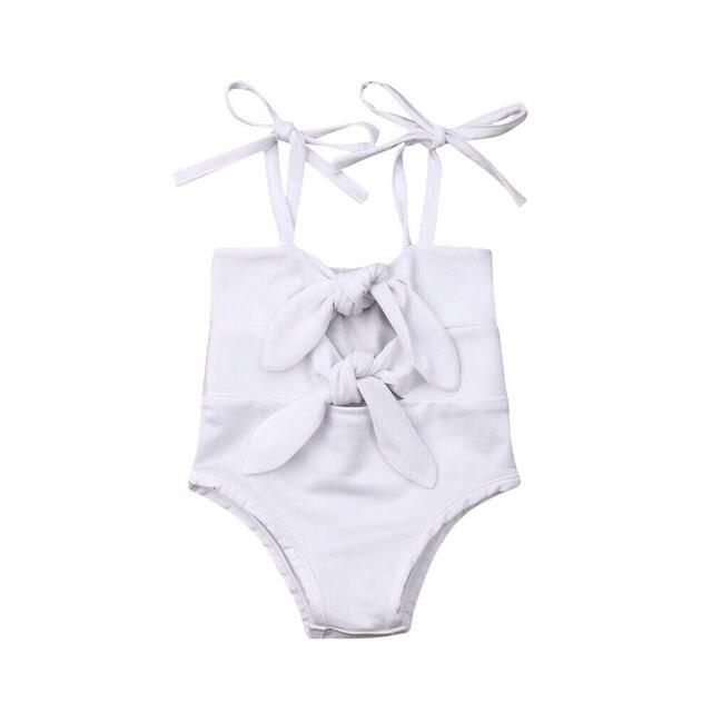0-3Years Toddler Swimsuit Kids Baby Girl Solid Swimwear Bikini Bandage Bathing Suit Summer Beachwear | healthy feet socks