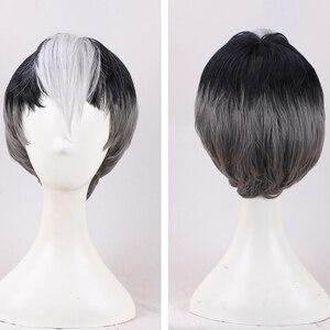 Image 1 - Nova chegada voltron: lendário defensor shiro peruca voltron lendário defensor anime cosplay cabelo adereços homens vendas quentes + peruca boné