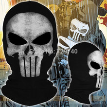 New The Punisher Full Face Mask Cosplay Costume Balaclava Combat Paintball WarGame Halloween Tactical Airsoft Ghost Skull Mask(China)