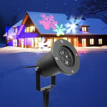 цена на 1pc Outdoor Waterproof Moving Projector Laser LED Garden Christmas Light Stage Light Christmas Wedding Party Spotlight Show #A30