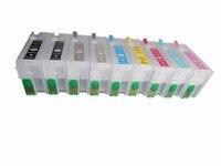 Einkshop T7601-T7609 için doldurulabilir mürekkep kartuşları Epson P600 surecolor P600 Surecolor SC-P600 yazıcı otomatik sıfırlama çipleri ile