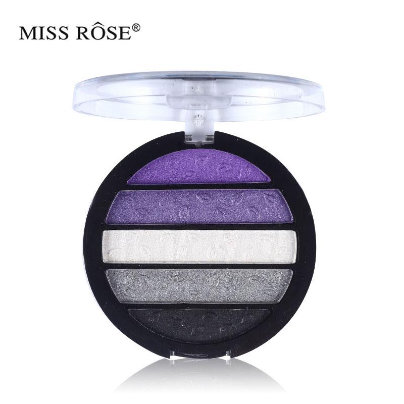 Colorida paleta de sombras de ojos brillantes 5 colores un conjunto - Maquillaje