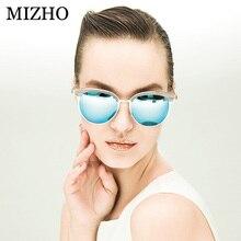 MIZHO Vidrio Superstar Polarized Sunglasses Women Mirrored Metal Cat eye Vintage UVA Polaroid Sunglass Mirror Original Case 2017