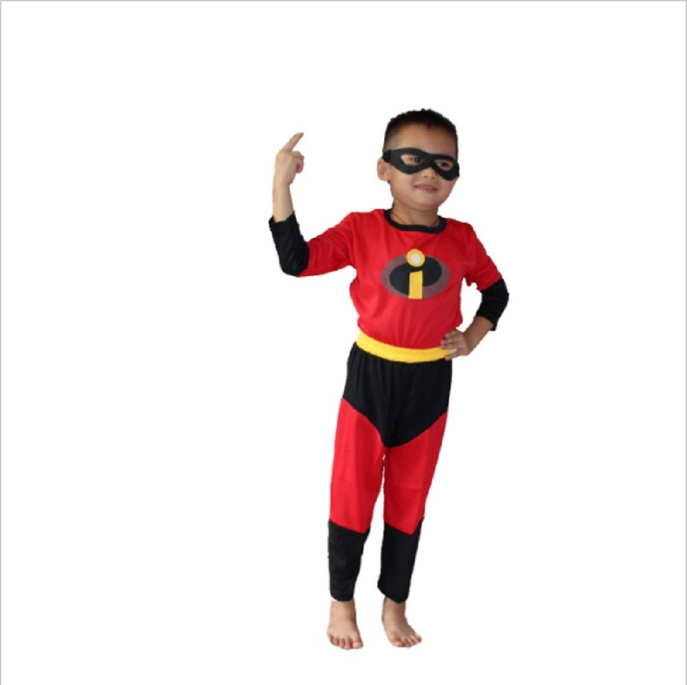 47237610515c תחפושות ואביזרים Kids The Incredibles Costume Halloween Costume For Boy  Party Cosplay Costume Toddler T-Shirt+Pants Clothing Set 3-7Years