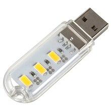 Мобильный Питания Компьютера USB Порт СВЕТОДИОДНЫЕ Лампы Night Light USB Зарядка Белый # KF