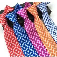 8cm necktie plaid tie for men neckwear colored ties suit accessories man neck tie check ties
