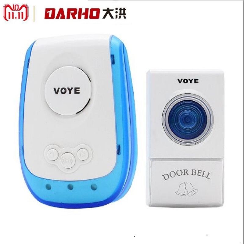Darho New Wireless shop store Doorbell 120M Remote smart Door Bell Chime One to one electronic remote control home doorbell burglar alarm wireless doorbell villa jingle bell 2 branch remote control doorbell multiple ring tones electronic doorbell fc