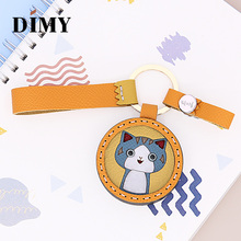 DIMY Private Custom Cute Cat Charm Bag Pendant Kitten Handmade Leather Car Key Ring Ornaments Wholesale Dropshopping Price