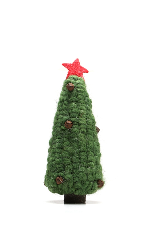 2016 New Small Christmas Tree Toys High-Quality Merino Wool Creative Craft Ornament Finished Chidren Kawaii Hot Selling For Kid